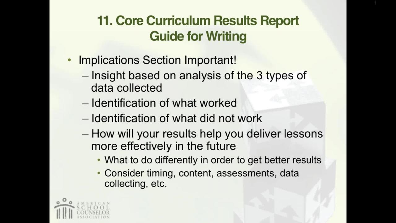 RAMP Scoring Rubric Webinar: Section 9 – School Counseling