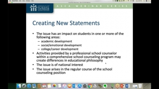 Position Statements as Advocacy & Education Tools