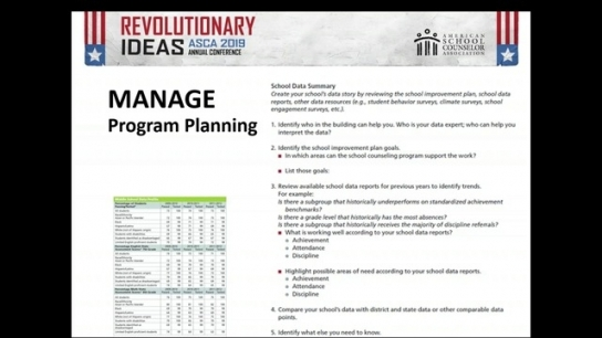 ASCA National Model Fourth Edition Changes: Manage