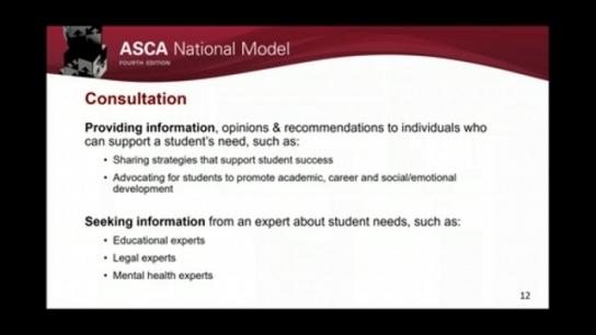 ASCA National Model, 4th Edition: Deliver