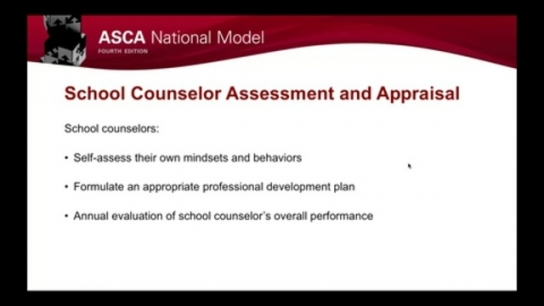 ASCA National Model, 4th Edition: Assess