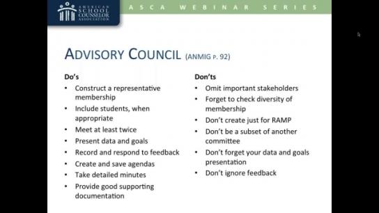 ASCA National Model: Advisory Council