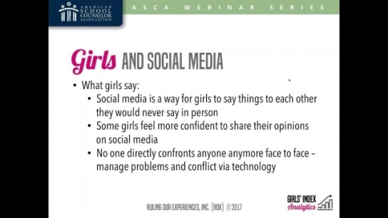 Selfies, Snaps, Sexts, & Self-Esteem: Girls and Social Media