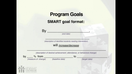 RAMP Scoring Rubric Webinar: Section 3 - Program Goals