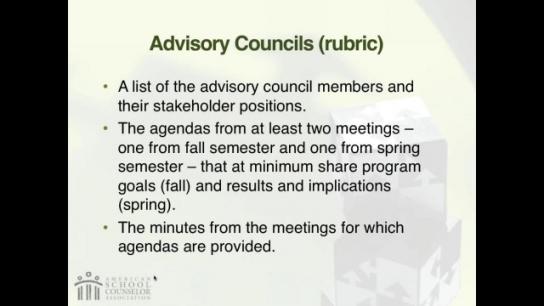 RAMP Scoring Rubric Webinar: Section 6 - Advisory Council