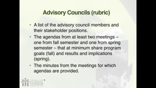 RAMP Scoring Rubric Webinar: Section 6 - Advisory Council