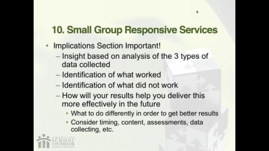 RAMP Scoring Rubric Webinar: Section 10 - Small-Group Responsive Services