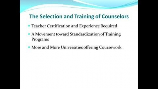 Norman Gysbers: History of School Counseling
