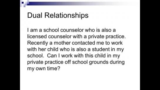 Professional Distance, Dual Relations & Boundaries