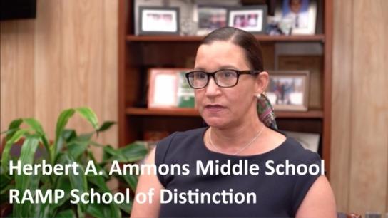 Herbert A. Ammons Middle School: 2018 RAMP School of Distinction