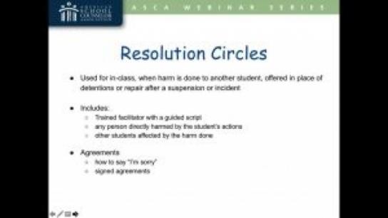 Restorative School Practices in Action